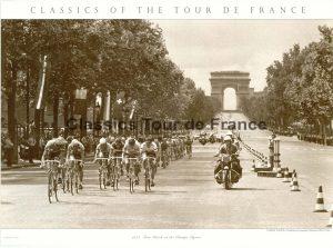 Champs Elysées, Tour de France 1975, Poster 56 x 76 cm